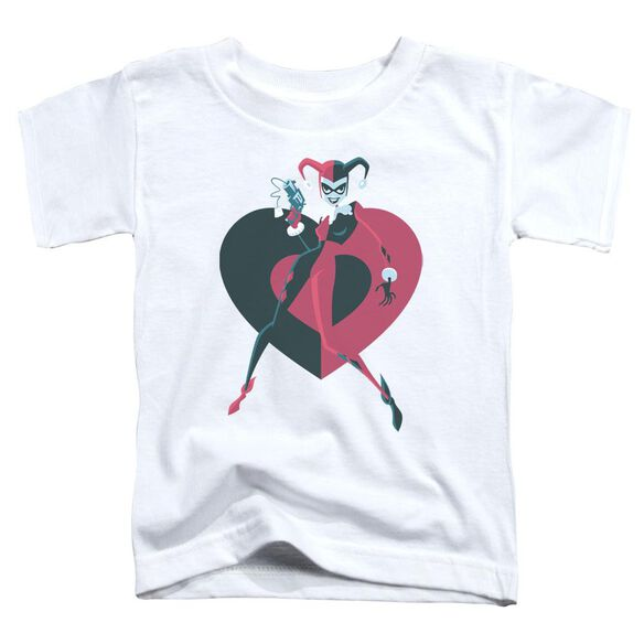 Batman Harely Heart Short Sleeve Toddler Tee White Lg T-Shirt