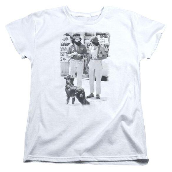 Up In Smoke Cheech Chong Dog Short Sleeve Womens Tee T-Shirt