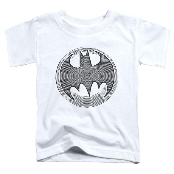 Batman Knight Knockout Short Sleeve Toddler Tee White Sm T-Shirt
