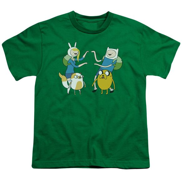 Adventure Time Meet Up Short Sleeve Youth Kelly T-Shirt
