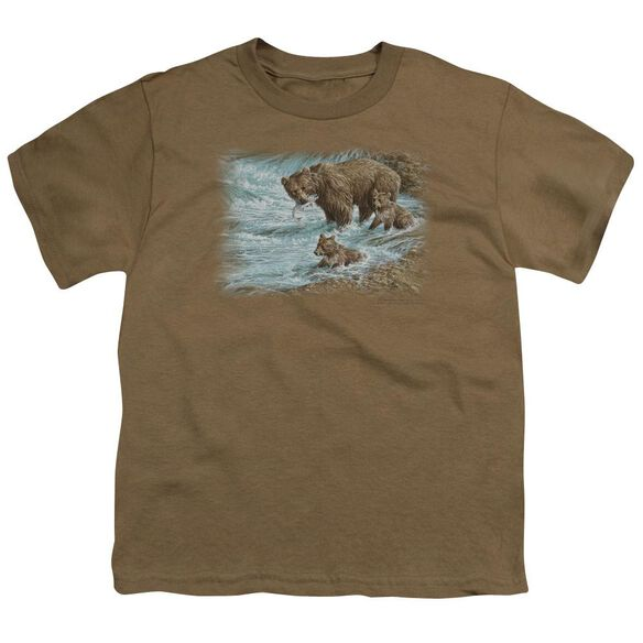 Wildlife Alaskan Brown Bear Short Sleeve Youth Safari T-Shirt