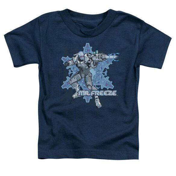 Batman Mr Freeze Short Sleeve Toddler Tee Navy T-Shirt