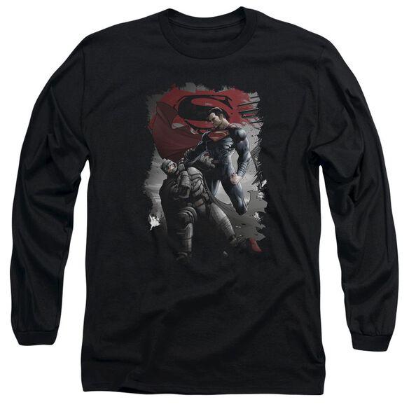 Batman Vs Superman Choke Long Sleeve Adult T-Shirt