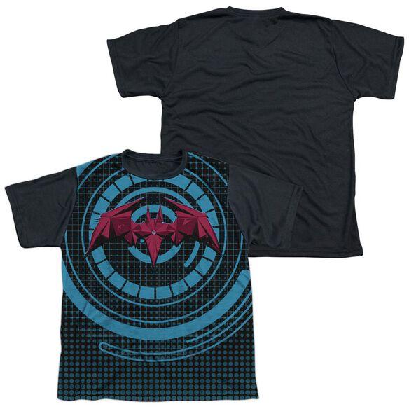Batman Unlimited Bat Tech Short Sleeve Youth Front Black Back T-Shirt
