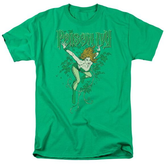 Dc Poison Ivy Short Sleeve Adult Kelly T-Shirt