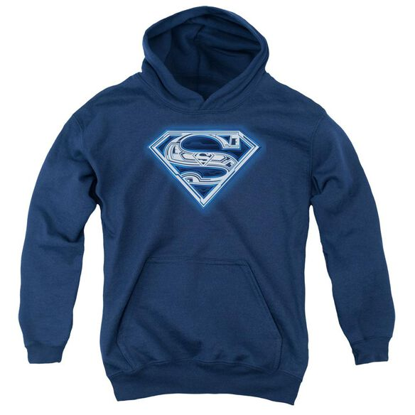 Superman Cyber Shield Youth Pull Over Hoodie