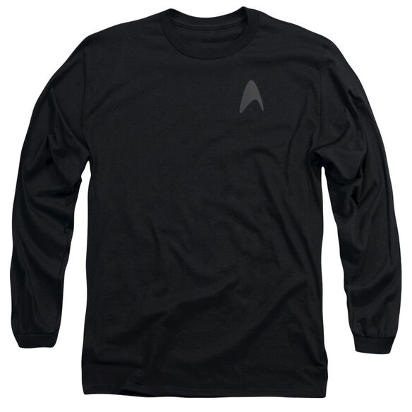 STAR TREK DARKNESS COMMAND LOGO - L/S ADULT 18/1 - BLACK T-Shirt