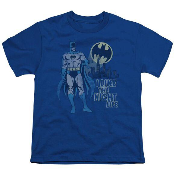 Dc Night Life Short Sleeve Youth Royal T-Shirt
