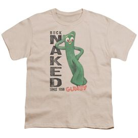 Gumby Buck Naked Short Sleeve Youth T-Shirt