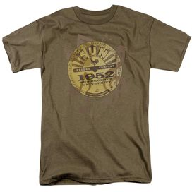 Sun Logo Music Short Sleeve Adult Safari Green T-Shirt