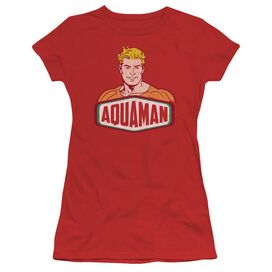 Dco Aquaman Sign Short Sleeve Junior Sheer T-Shirt