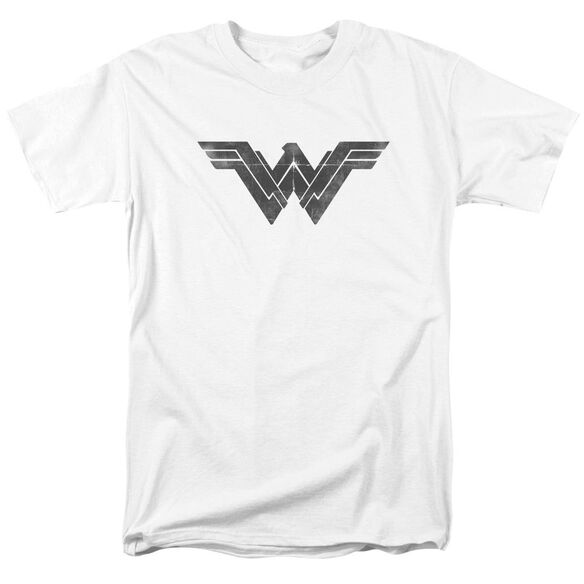 Batman V Superman Folded And Distressed Short Sleeve Adult White T-Shirt