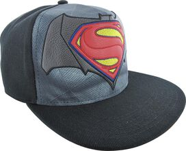 Batman v Superman Faux Leather Logo Snapback Hat