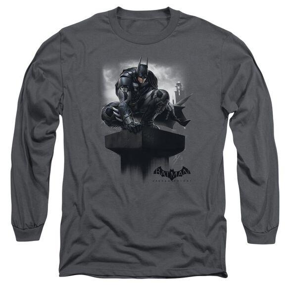 Batman Arkham Knight Perched Long Sleeve Adult T-Shirt
