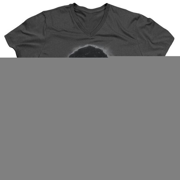 ELVIS PRESLEY GREY PORTRAIT - S/S ADULT V-NECK T-Shirt