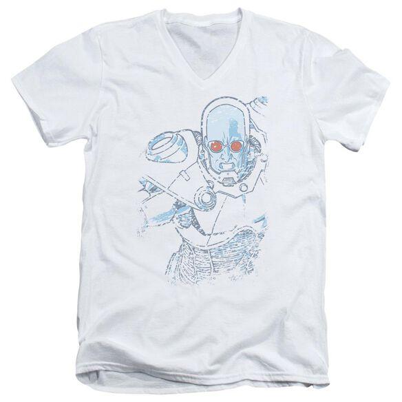 Batman Snowblind Freeze Short Sleeve Adult V Neck T-Shirt