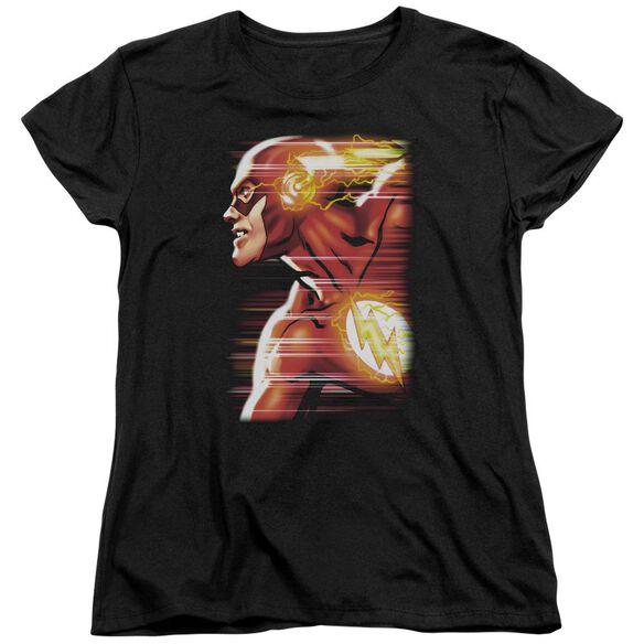 Jla Speed Head Short Sleeve Womens Tee T-Shirt