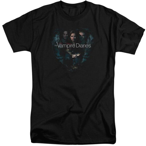 Vampire Diaries Hearts Desire Short Sleeve Adult Tall T-Shirt