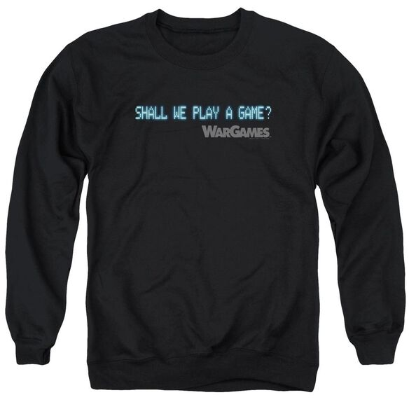 Wargames Shall We Adult Crewneck Sweatshirt