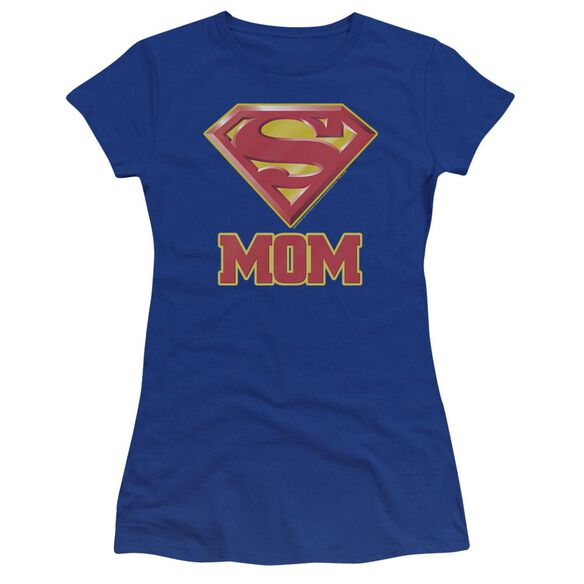Superman Super Mom Premium Bella Junior Sheer Jersey Royal