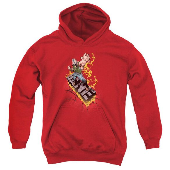 Dark Knight Rises Bane On Fire Youth Pull Over Hoodie