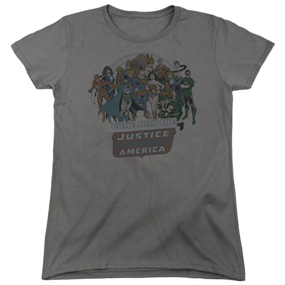 Dc Join The Justice League Short Sleeve Womens Tee T-Shirt