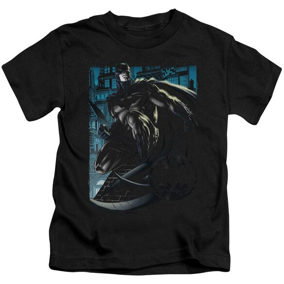 Batman Knight Falls In Gotham Short Sleeve Juvenile Black T-Shirt