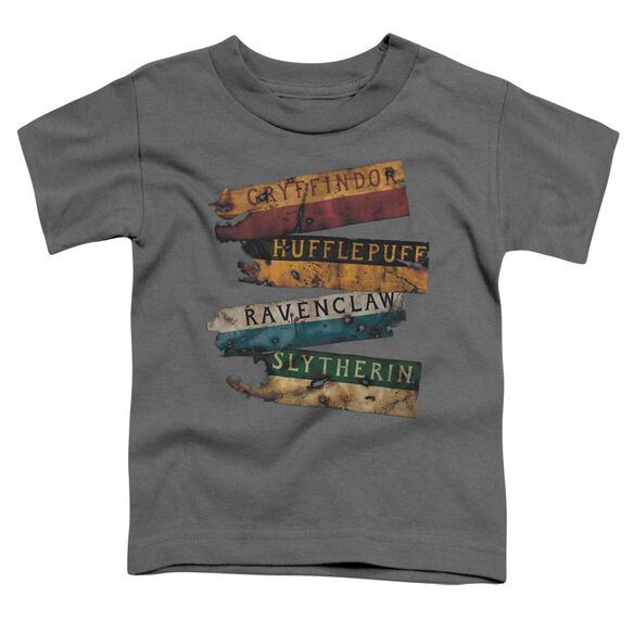 Harry Potter Burnt Banners Short Sleeve Toddler Tee Charcoal T-Shirt