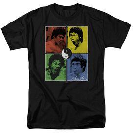 Bruce Lee Enter Color Block Short Sleeve Adult T-Shirt