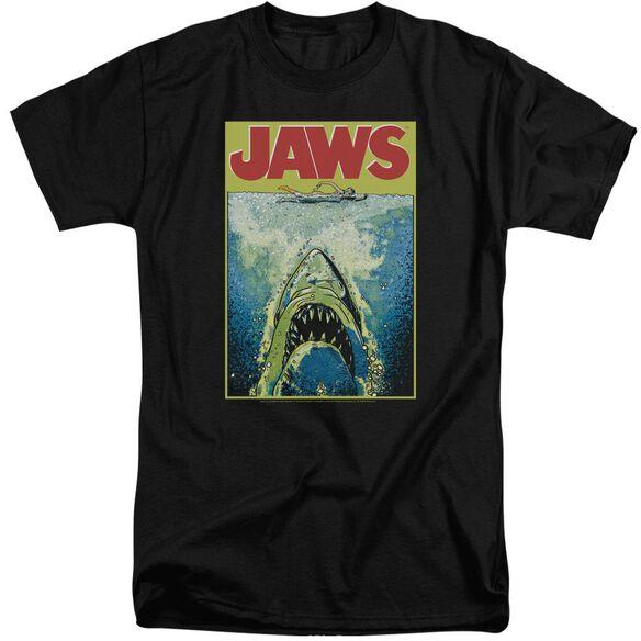 Jaws Bright Jaws Short Sleeve Adult Tall T-Shirt