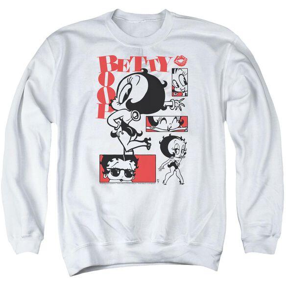 Betty Boop Stylin Snaps Adult Crewneck Sweatshirt