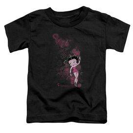 Betty Boop Cutie Short Sleeve Toddler Tee Black Lg T-Shirt