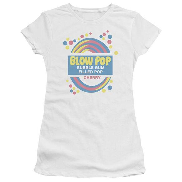 Tootsie Roll Blow Pop Label Short Sleeve Junior Sheer T-Shirt