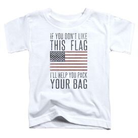 Pack Your Bag Short Sleeve Toddler Tee White T-Shirt