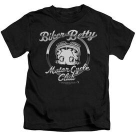 Betty Boop Chromed Logo Short Sleeve Juvenile Black T-Shirt