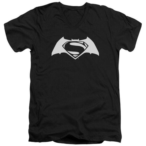 Batman V Superman Simple Logo Short Sleeve Adult V Neck T-Shirt