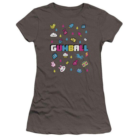 Amazing World Of Gumball Fun Drops Hbo Short Sleeve Junior Sheer T-Shirt