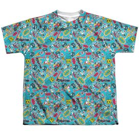 Teen Titans Go Pattern Short Sleeve Youth Poly Crew T-Shirt