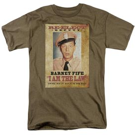 Andy Griffith I Am The Law Short Sleeve Adult Safari Green T-Shirt