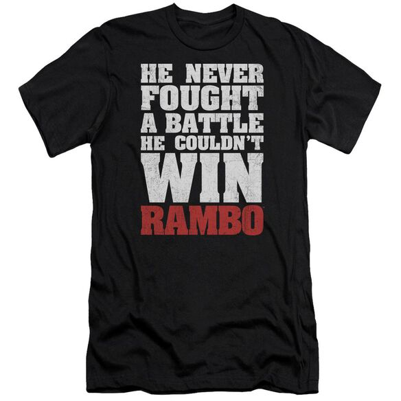 Rambo:First Blood He Never Premuim Canvas Adult Slim Fit