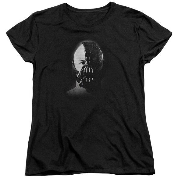 Dark Knight Rises Bane Short Sleeve Womens Tee Black T-Shirt