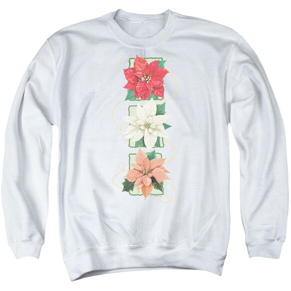 Poinsettias Adult Crewneck Sweatshirt