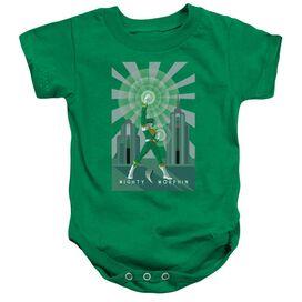 Power Rangers Green Ranger Deco Infant Snapsuit Kelly Green