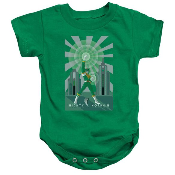 Power Rangers Green Ranger Deco Infant Snapsuit Kelly Green
