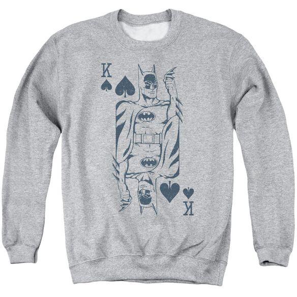 Dc Bat Card Adult Crewneck Sweatshirt Athletic