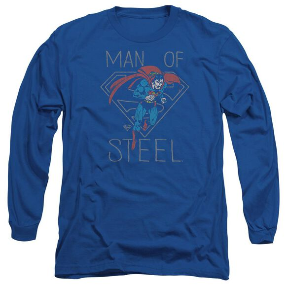 Dc Hardened Heart Long Sleeve Adult Royal T-Shirt