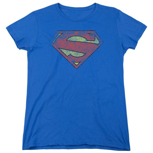 Superman New 52 Shield Short Sleeve Womens Tee Royal T-Shirt