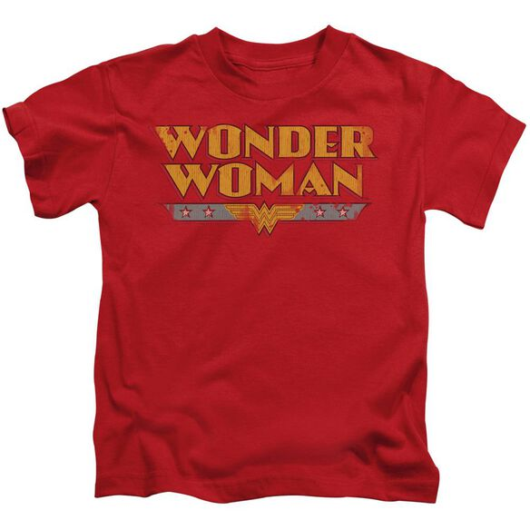 Dc Wonder Woman Logo Short Sleeve Juvenile Red Md T-Shirt