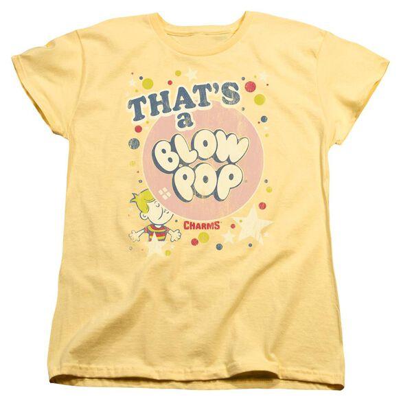 Tootsie Roll Thats A Blow Pop Short Sleeve Womens Tee T-Shirt