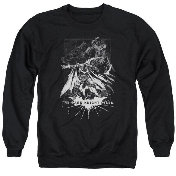 Dark Knight Rises Rising Sketch Adult Crewneck Sweatshirt